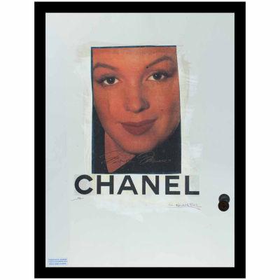 Fairchild Paris Marilyn Monroe Chanel Ad (749) Framed Wall Art