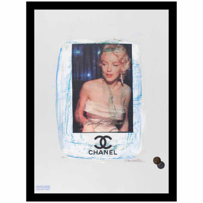 Fairchild Paris Marilyn Monroe Chanel Ad (718) Framed Wall Art