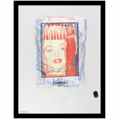 Fairchild Paris Marilyn Monroe Chanel Ad (710) Framed Wall Art