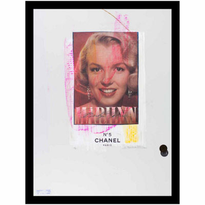 Fairchild Paris Marilyn Monroe Chanel Ad (717) Framed Wall Art