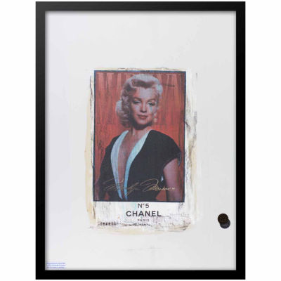 Fairchild Paris Marilyn Monroe Chanel Ad (720) Framed Wall Art