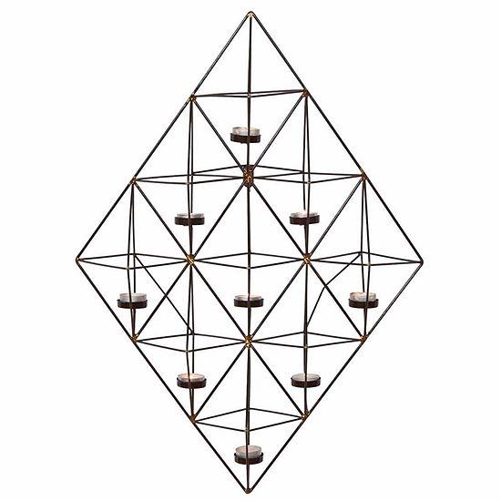 Danya B. Rhomboid Geometric Wall Tea Light Holder