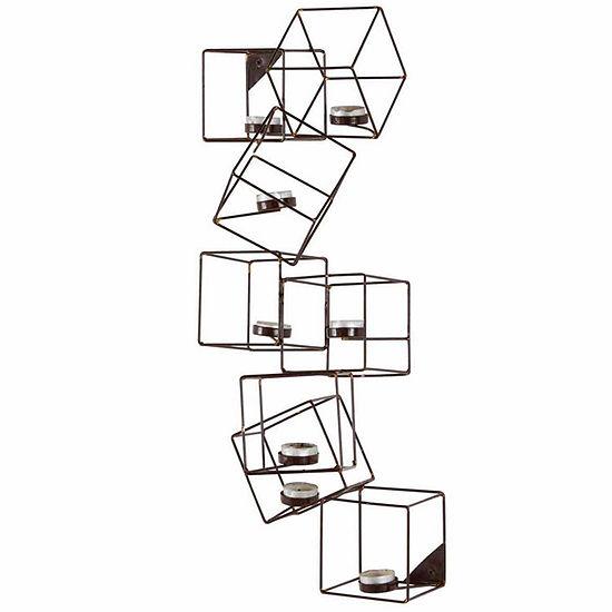 Danya B Architectural Cubic Wall Tea Light Holder