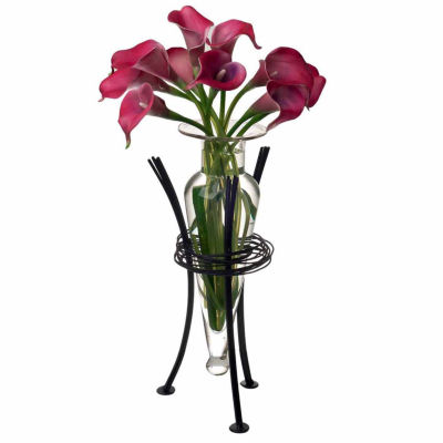 Danya B.  Amphora Vase with Wire Stand