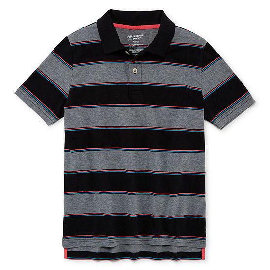 Arizona Boys Button Down Collar Short Sleeve Polo Shirt Preschool / Big Kid