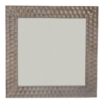 Zara Square Hammered Frame Mirror