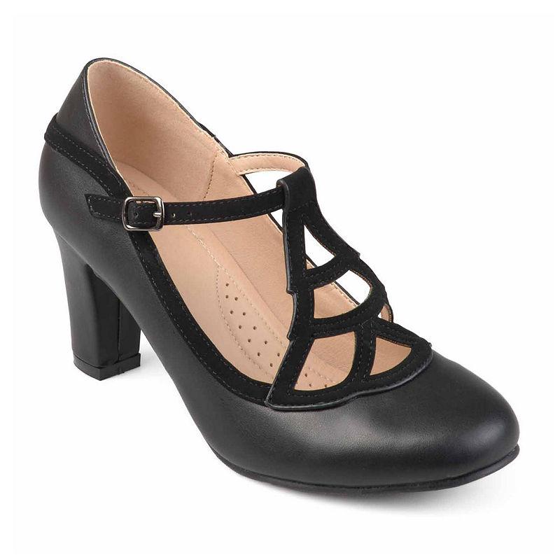 1920s Style Shoes Journee Collection Nile Womens Pumps Black 7 12 Medium $59.49 AT vintagedancer.com