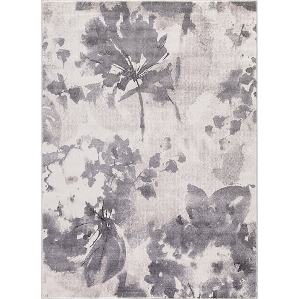 Concord Global Trading Lara Collection Watercolor Flower Area Rug