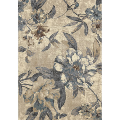 Concord Global Trading Lumina Collection Roses Area Rug