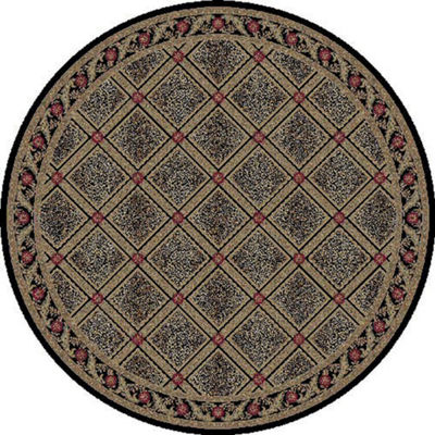 Concord Global Trading Imperial Collection Diamond Round Area Rug