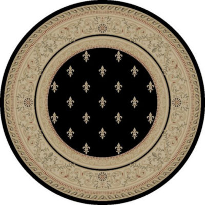 Concord Global Trading Imperial Collection Fleur De Lys Round Area Rug