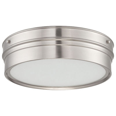 Filament Design 1-Light Polished Nickel Flush Mount