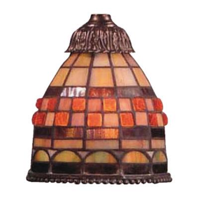 Mix-N-Match 1 Light Jewelstone Tiffany Glass Shade