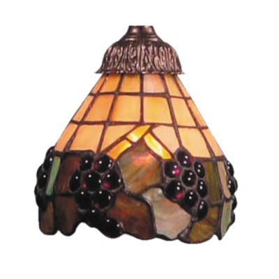 Mix-N-Match Stained Honey Dune Glass Shade With Grape Accents