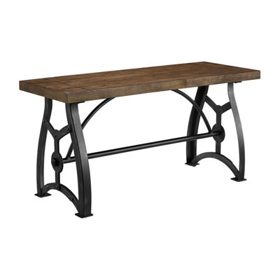 Rosebank Wood and Metal Dining Bench