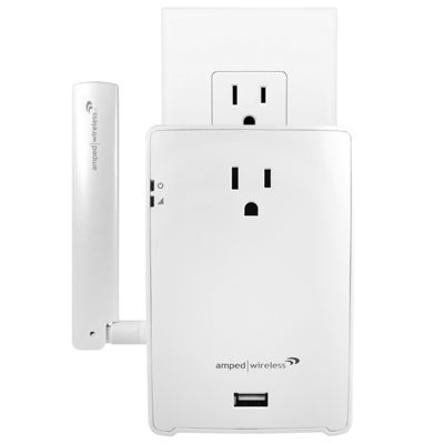 Amped Wireless REC22P High Power AC1200 Plug-in Wi-Fi Range Extender with Pass Thru Outlet