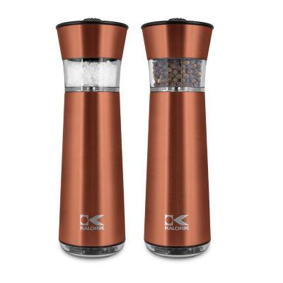 Kalorik® Electric Gravity Salt and Pepper Grinder Set