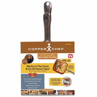 As Seen on TV Copper Chef Square 2-pk Fry Pan Set