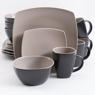Gibson Infinite Glaze Matte 16-pc Dinnerware Set