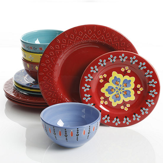 Gibson BOHO Chic 12-pc Dinnerware Set