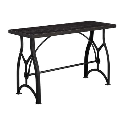 Tiburon Wood And Metal Sofa Table
