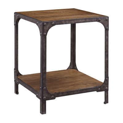 Irwin Wood And Metal End Table