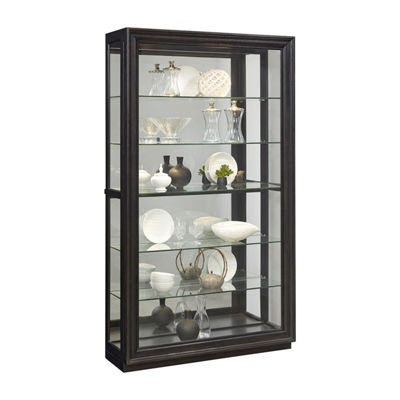 Rockford Mirrored Two Way Sliding Door Curio Cabinet