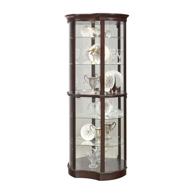 Sable Concave Front Mirrored Curio Cabinet