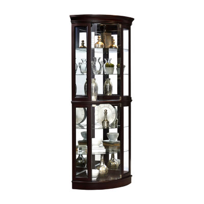 Sable Mirrored Corner Curio Cabinet
