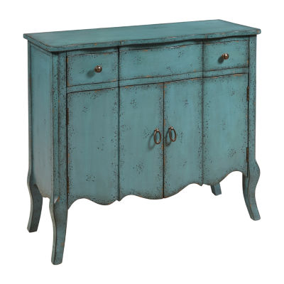 Distressed Turquoise Accent Chest
