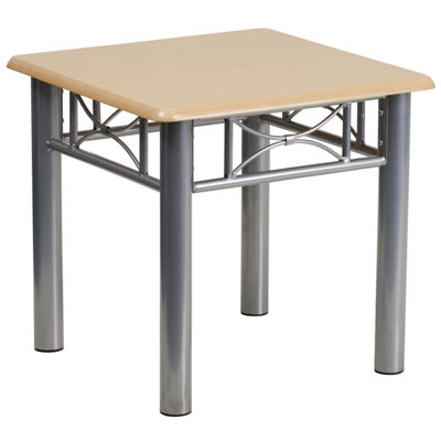 Laminate End Table with Steel Frame