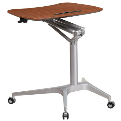 Mobile Sit-Down, Stand-Up Computer Desk with 28.25''W Top (Adjustable Range 29'' - 41'')