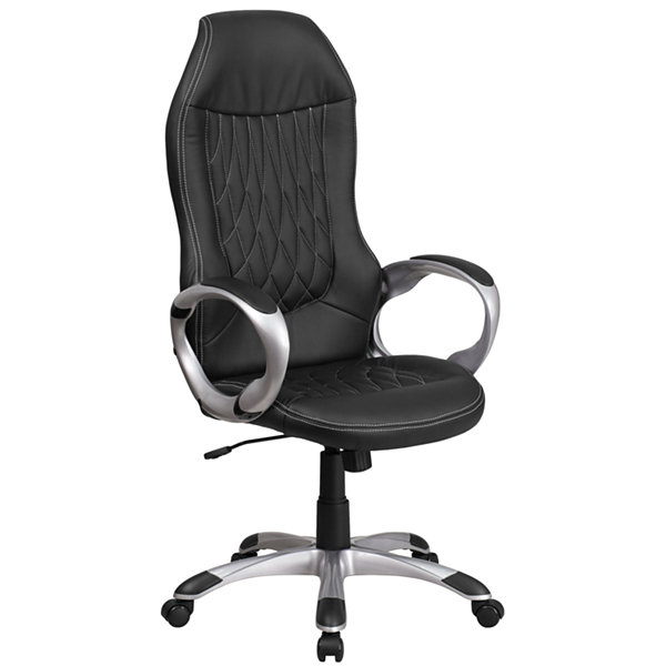 High Back Vinyl Executive Swivel Chair with Arms