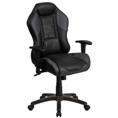 High Back Monterey Vinyl Executive Swivel Chair with Comfort Coil Seat Springs
