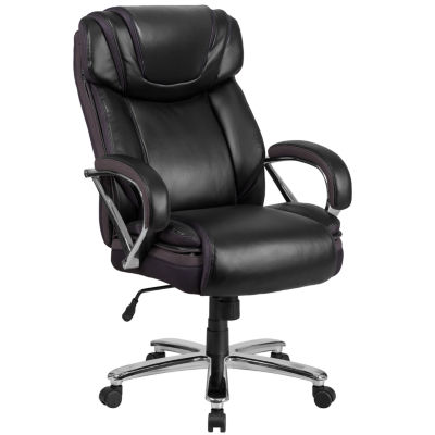 HERCULES Series Big & Tall 500 lb. Rated Leather Executive Swivel Chair with Extra Wide Seat