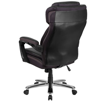HERCULES Series Big & Tall 500 lb. Rated Leather Executive Swivel Chair with Height Adjustable Headrest