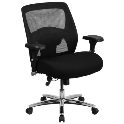 HERCULES Series 24/7 Intensive Use Big & Tall 500lb. Rated Black Mesh Executive Swivel Chair with Ratchet Back