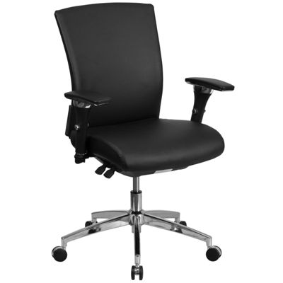 HERCULES Series 24/7 Intensive Use 300 lb. Rated Multifunction Executive Swivel Chair with Seat Slider