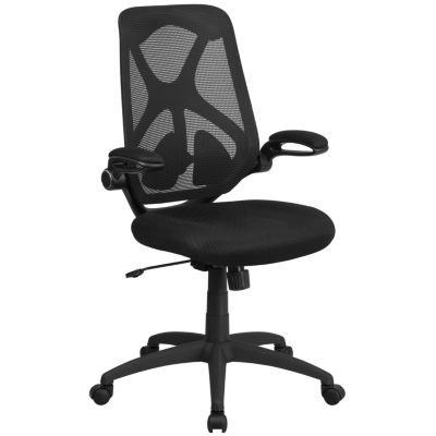 High Back Mesh Executive Swivel Chair with Adjustable Lumbar, 2-Paddle Control and Flip-Up Arms