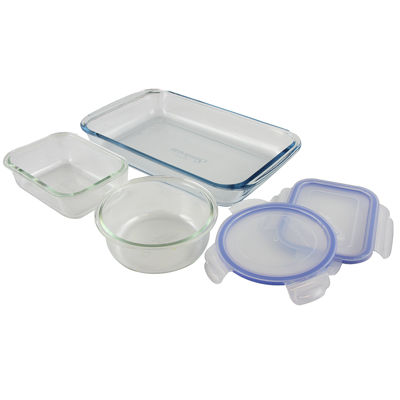 Baker's Staples 5-Piece Mixed Shape Bakeware Set with Lids