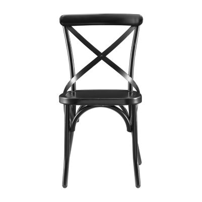 Distressed Antique Metal Dining Chair