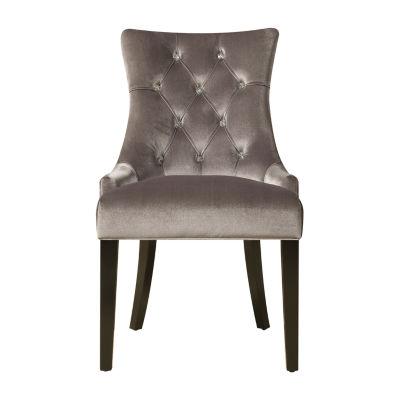 Chrome Velvet Side Chair