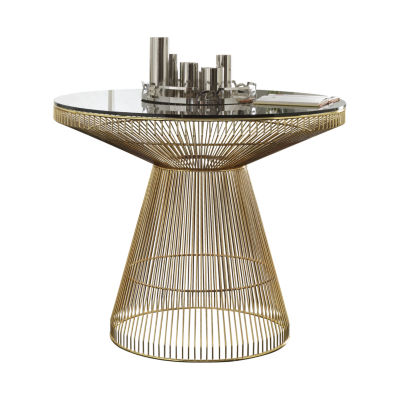 Rasia Glass-Top Dining Table