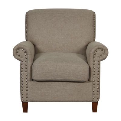 Traditional Roll Arm Accent Chair
