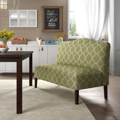 Armless Arched Back Upholstered Settee