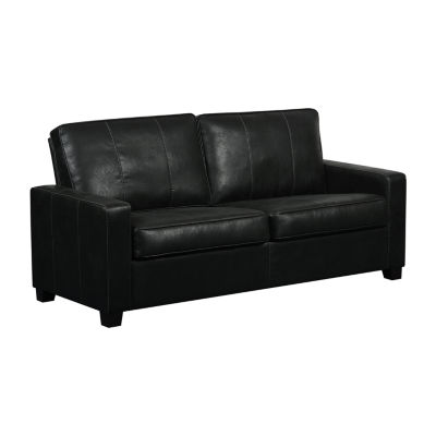 Urban Eclipse Faux Leather Two Cushion Sofa