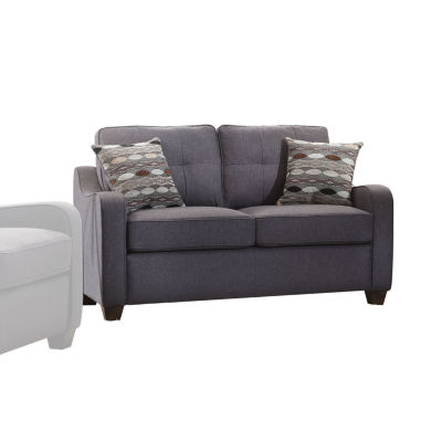 Cleavon II Loveseat with 2 Pillows Gray Linen