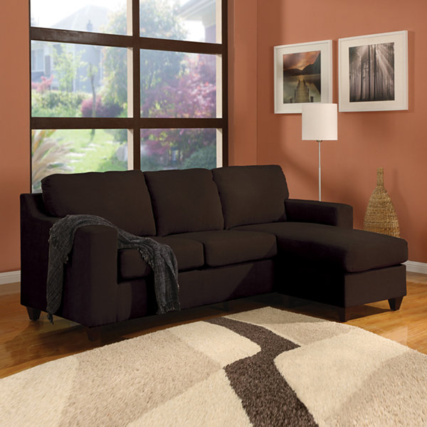 Vogue Sectional Sofa Reversible Microfiber Chaise