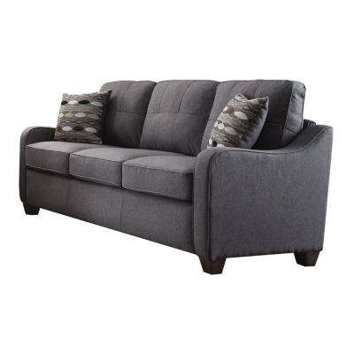 Cleavon II Sofa with 2 Pillows Gray Linen