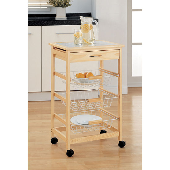 Neu Home Kitchen Cart with Baskets